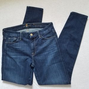 7 for all Mankind high waist ankle skinny jeans 28